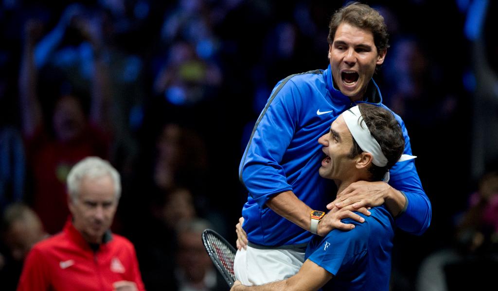 Rafael nadal and Roger Federer delight at Laver Cup