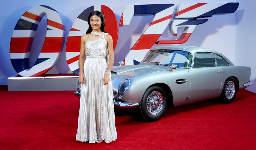 Emma Raducanu attends premiere of Bond film No Time To Die