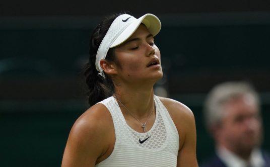 Emma Raducanu disappointed