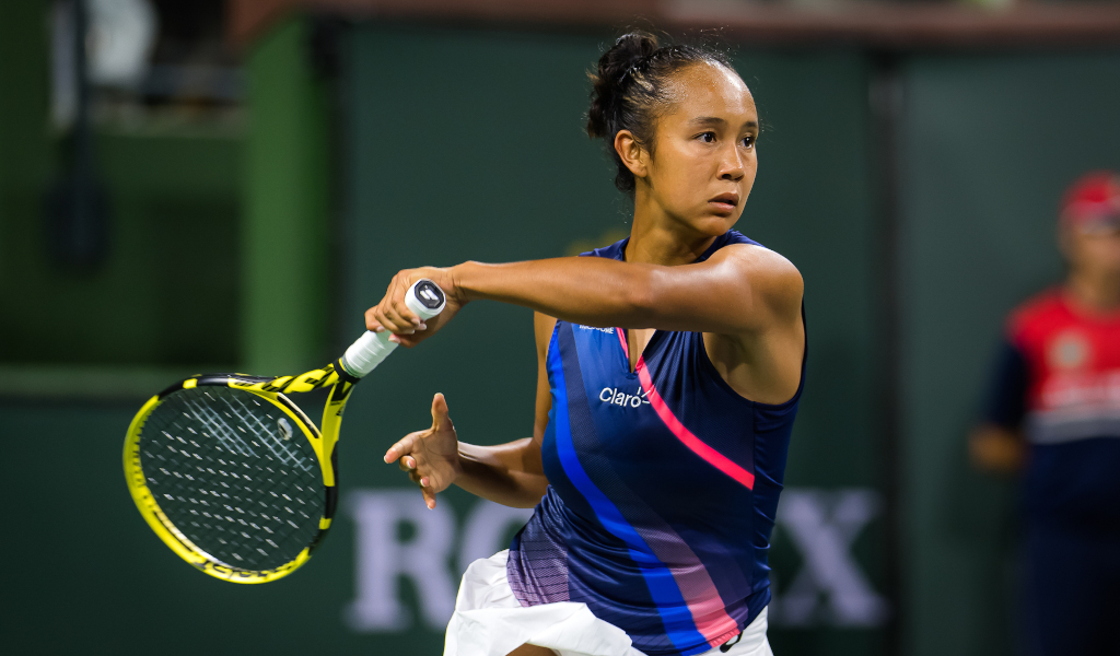 Leylah Fernandez in action on the WTA Tour