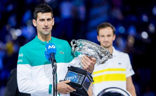 Australian Open champion Novak Djokovic