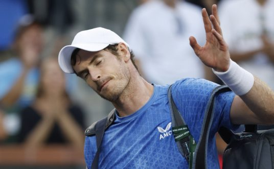 Andy Murray leaves the court